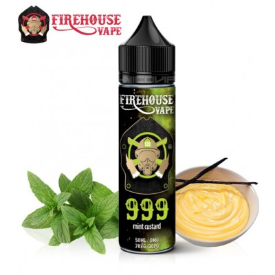 999 MINT CUSTARD FIREHOUSE VAPE 50 ml 0mg +Nicokit
